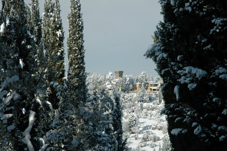 Snow in Chianti