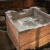 Remains baptismal font